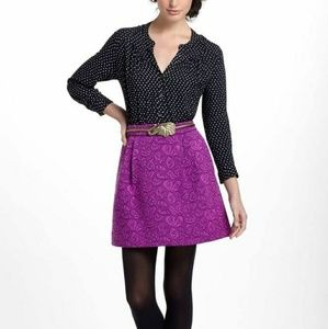 Anthropologie HD in Paris Purple Pink Mini Skirt